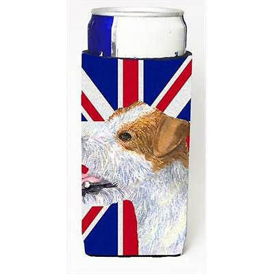 Jack Russell Terrier With English Union Jack British Flag Michelob Ultra bott...