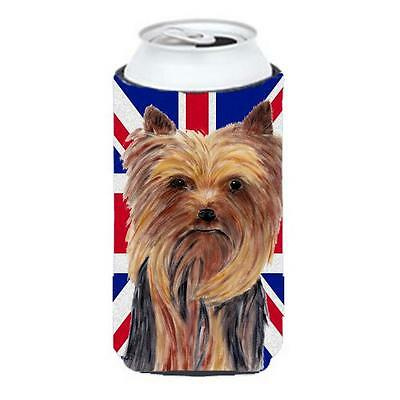 Yorkie With English Union Jack British Flag Tall Boy bottle sleeve Hugger 22 ...