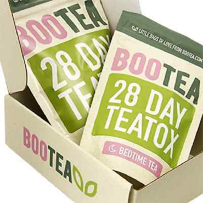 Genuine BOOTEA Teatox - 28 Day Teatox Daytime & Bedtime - Weight Loss Cheap NEW
