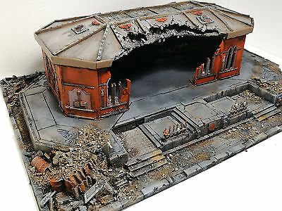 "Warhammer 40000 War Game Scenery ""realm Of Battle Cityscape""  Pro Painted 40K"