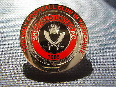 Sheffield United THE ONLY CLUB IN YORKSHIRE enamel football badge