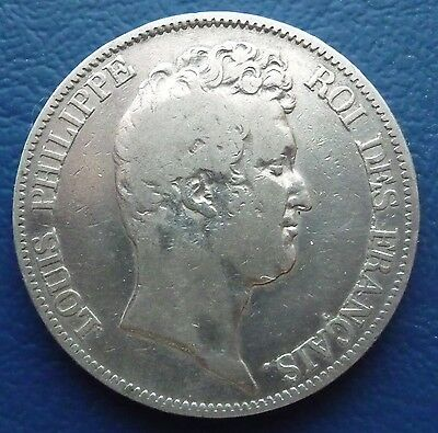 5 Francs Silber 1830 A Louis Philippe Frankreich ss R