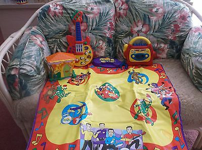Wiggles Dancing Mat, Guitar, Recorder and Wiggles House