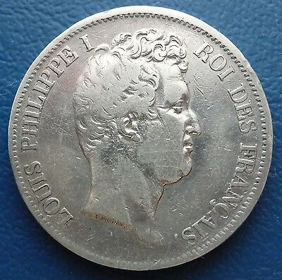 5 Francs Silber 1831 A Louis Philippe I. Frankreich ss