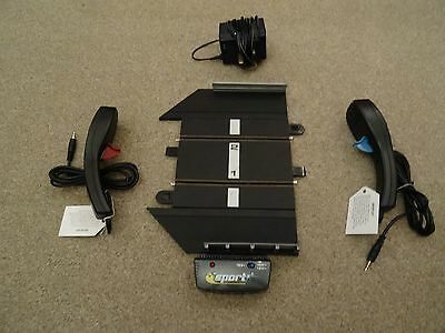 Scalextric Sport Start Powerbase + Supply, 2 Throttles Controllers & Barriers
