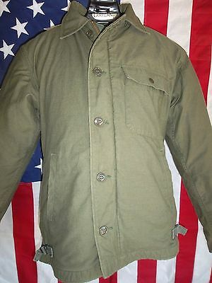 United States Navy A-2 Deck Jacket 1980-Size Small (34-36)