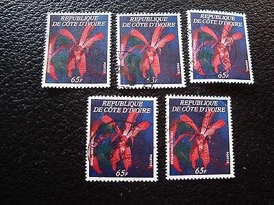 COTE D IVOIRE - timbre yvert/tellier n° 487 x5 obl (A28) stamp