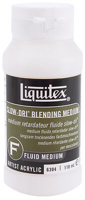 Liquitex Slow-Dri Blending Acrylic Fluid Medium-4oz