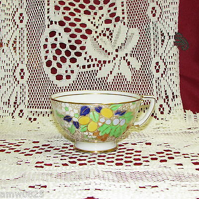 ADDERLEY BONE CHINA TEA CUP ORNATE HAND PAINTED GOLD FILIGREE no saucer VINTAGE