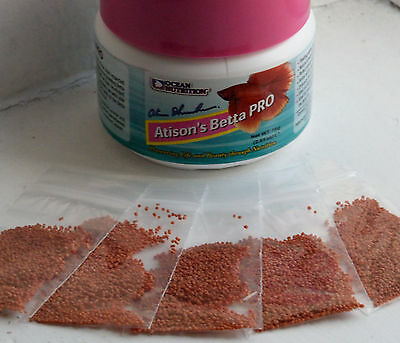 Ocean Nutrition Atison Betta Pro Pellets Sample, Conditioning, Young Fish