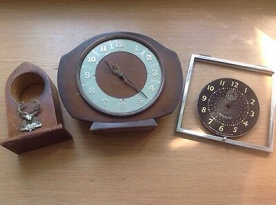 Vintage Clock Parts For Repair Or Collecting Art Projects Etc