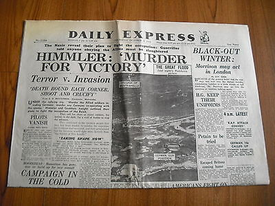 WW2 WARTIME NEWSPAPER - DAILY EXPRESS - OCTOBER 5th 1944