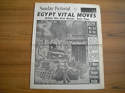 WW2 WARTIME NEWSPAPER - SUNDAY PICTORIAL - SEPTEMBER 6th 1942