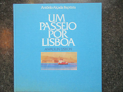 Portugal 1989'A Walk in Lisbon' Book With Stamps. MNH.