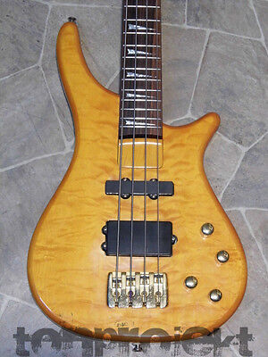 JOHNSON CATALYST quilted maple E-Bass 4string Bassgitarre Bass amber seethrough