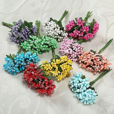 1Bunch Artificial Floral Berry Leaf Wedding Party Home Gift Bouquet Decor DIY