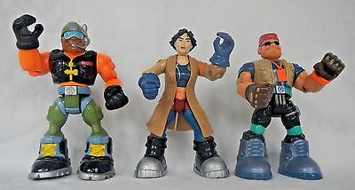 3 Rescue Heroes Fisher Price Figures Rocky Canyon Maureen Biologist Tele Photo