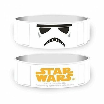 Official - Star Wars Stormtrooper - White Rubber Gummy Wristband