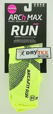 Arch Max Archfit Run Short Socks Color Green Size Large