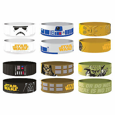 Star Wars Rubber Wristbands C3P0 Chewbacca Stormtrooper R2D2 Yoda
