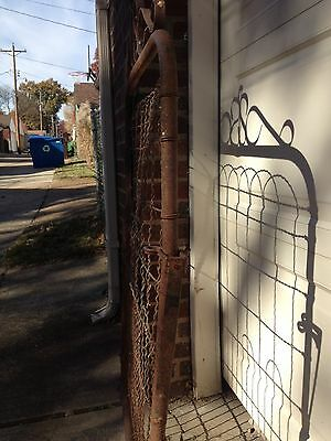 Antique Vintage Wire Garden Gate Garden Decor Metal Garden Gate Fence Trellis