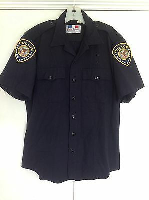 Vintage Police Officer Uniform Shirt Department of Veterans Affairs Flying Cross