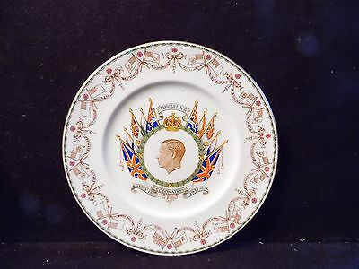 "Vintage 1937 EDWARD VII Coronation Plate Cauldon China England 10 3/4"" Diameter"