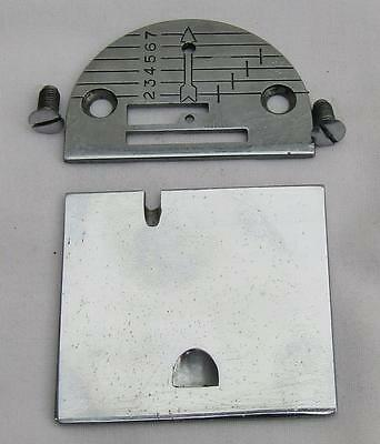 Singer Sewing Machine Bobbin Cover Side And Throat Plate From 185K Simanco 32569