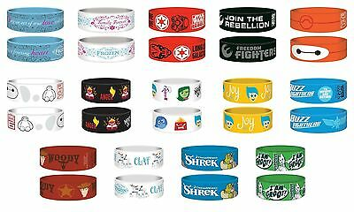 Junior Rubber Wristbands - Disney Star Wars Frozen Toy Story Shrek Big Hero 6