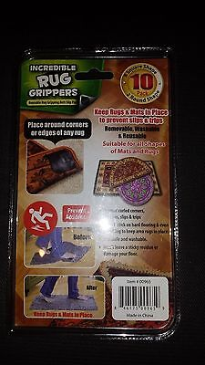 Incredible Rug Grippers Removable Washable Reusable Safety Easier Living