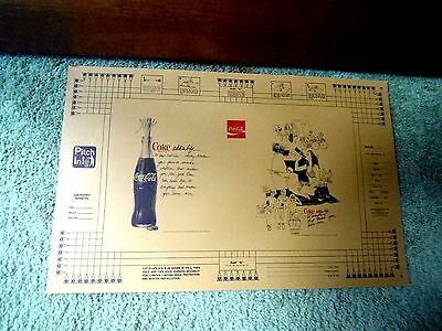 5 Vintage School Book Covers Advertising Coke Front & Back Ad Unused