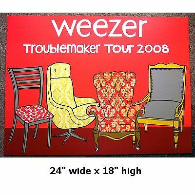 Weezer! Troublemaker Tour 2008 Lithograph Litho Poster Rare New Hand Numbered