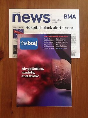 BMJ British Medical Journal 28 March 2015 Air pollution, anxiety & stroke