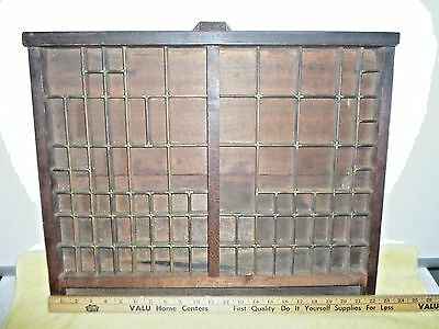 Antique R. Hoe & Co. N.y. -Pat. May 2Nd 1871 Wood & Brass Drawer
