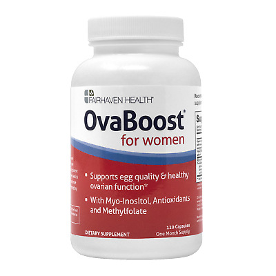 FAIRHAVEN HEALTH OVABOOST FERTILITY SUPPLEMENT WOMEN OVARY EGG QUALITY TTC x120