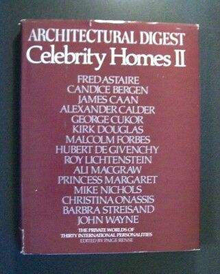 Architectural Digest - Celebrity Homes 2  - Hc - 1981 - 30 Personalities Shown