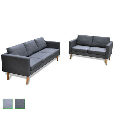 2 Combinations Dark/Light Grey Modern Fabric Sofa Couch Lounge Furniture Seat