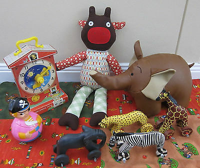 Bundle Lot x Real Vintage & Retro Styled Toys..Inc Fisher Price Clock