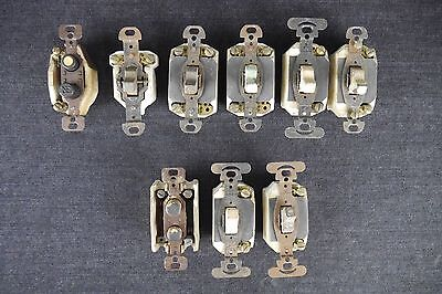 Antique Vintage Lot of (9) Switches Toggle & Push Button For Use & Parts