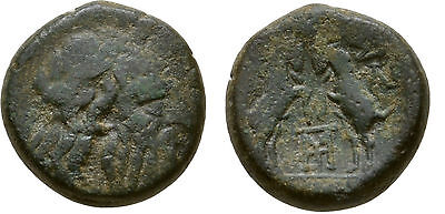 Rare Ancient Greece  187-167 BC MACEDON THESSALONICA ZEUS GOATS