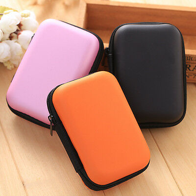 Portable Long Hard Storage Case Bag for Earphone Headphone SD TF Cards Earbuds