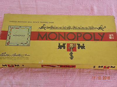 Vintage Parker Brothers Monopoly 1954 Complete