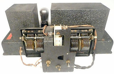 vintage * WESTRAD RADIO CONSOLE RADIO part:  UNTESTED 7 early TUBE CHASSIS