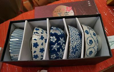 Asian Ceramic Bowls (Set of 5)