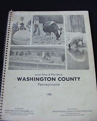 Vtg 1980 Washington County Pennsylvania Pa 4-H Rural Land Atlas & Plat Map Book