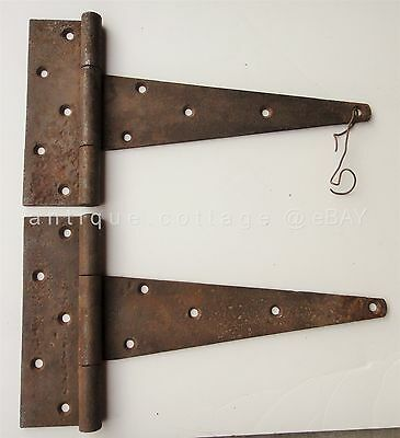"LOT antique 2pc 12"" BARN DOOR STRAP HINGES lancaster pa AMISH FARM"