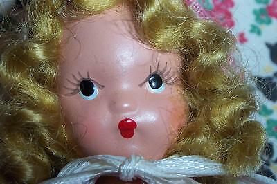 """5 1/2"""" NASB doll bisque frozen legs painted face #58 Am girl western miss 40-50s"""