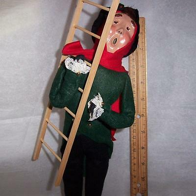 1993 Byers choice Ltd the CAROLERS USA man with ladder Xmas lamplighter