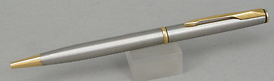 Parker Insignia Flighter Stainless Steel & Gold Ballpoint Pen - 1995 Made In USA