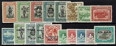 Papua - 18 Older Mint Hinged Issued - 080716